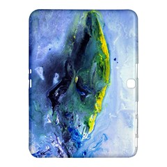 Bright Yellow and Blue Abstract Samsung Galaxy Tab 4 (10.1 ) Hardshell Case