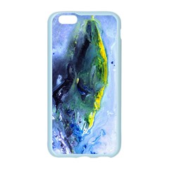 Bright Yellow and Blue Abstract Apple Seamless iPhone 6 Case (Color)