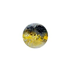 Bright Yellow Abstract 1  Mini Buttons
