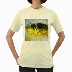 Bright Yellow Abstract Women s Yellow T Shirt
