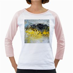 Bright Yellow Abstract Girly Raglans