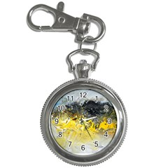 Bright Yellow Abstract Key Chain Watches