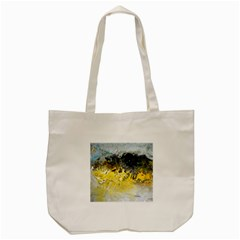 Bright Yellow Abstract Tote Bag (Cream)