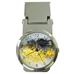 Bright Yellow Abstract Money Clip Watches