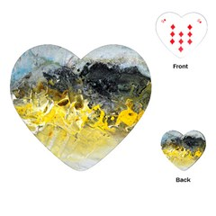 Bright Yellow Abstract Playing Cards (heart)