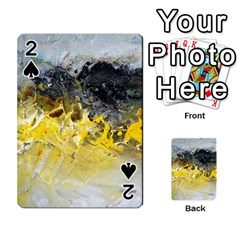 Bright Yellow Abstract Playing Cards 54 Designs