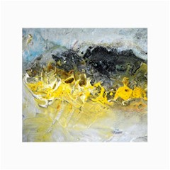 Bright Yellow Abstract Collage 12  X 18