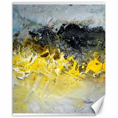 Bright Yellow Abstract Canvas 16  X 20