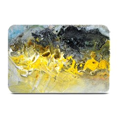 Bright Yellow Abstract Plate Mats
