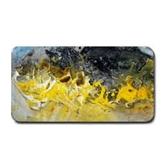 Bright Yellow Abstract Medium Bar Mats