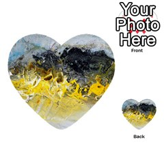 Bright Yellow Abstract Multi-purpose Cards (Heart)