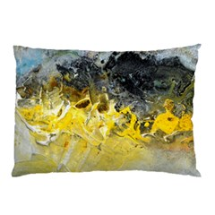 Bright Yellow Abstract Pillow Cases