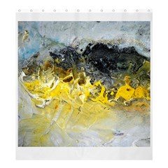 Bright Yellow Abstract Shower Curtain 66  X 72  (large)