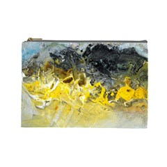 Bright Yellow Abstract Cosmetic Bag (large)