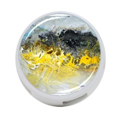 Bright Yellow Abstract 4 Port Usb Hub (two Sides)