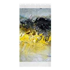 Bright Yellow Abstract Shower Curtain 36  x 72  (Stall)