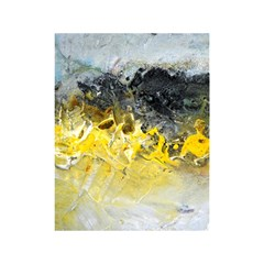 Bright Yellow Abstract Shower Curtain 48  x 72  (Small)