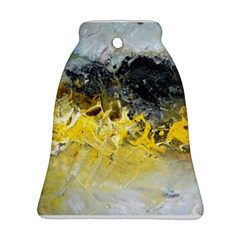 Bright Yellow Abstract Bell Ornament (2 Sides)