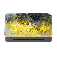 Bright Yellow Abstract Memory Card Reader With Cf