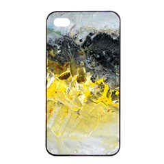 Bright Yellow Abstract Apple Iphone 4/4s Seamless Case (black)