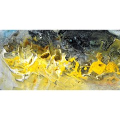 Bright Yellow Abstract YOU ARE INVITED 3D Greeting Card (8x4)
