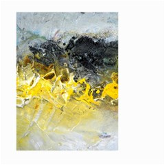 Bright Yellow Abstract Large Garden Flag (Two Sides)