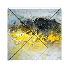 Bright Yellow Abstract Acrylic Tangram Puzzle (6  x 6 )