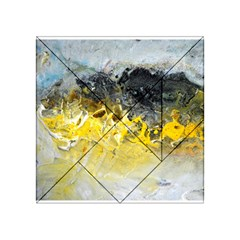 Bright Yellow Abstract Acrylic Tangram Puzzle (4  X 4 )