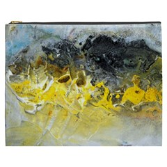 Bright Yellow Abstract Cosmetic Bag (xxxl)