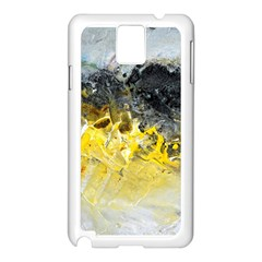 Bright Yellow Abstract Samsung Galaxy Note 3 N9005 Case (white)
