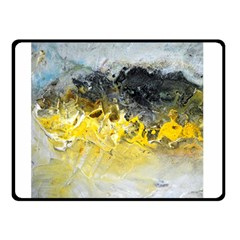 Bright Yellow Abstract Double Sided Fleece Blanket (small)