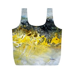 Bright Yellow Abstract Full Print Recycle Bags (m)