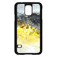 Bright Yellow Abstract Samsung Galaxy S5 Case (black)