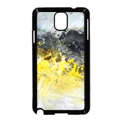 Bright Yellow Abstract Samsung Galaxy Note 3 Neo Hardshell Case (Black)