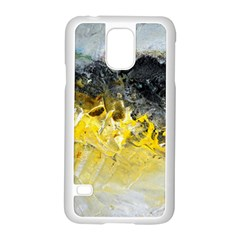 Bright Yellow Abstract Samsung Galaxy S5 Case (White)