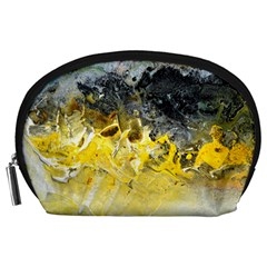Bright Yellow Abstract Accessory Pouches (Large)