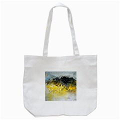 Bright Yellow Abstract Tote Bag (white)