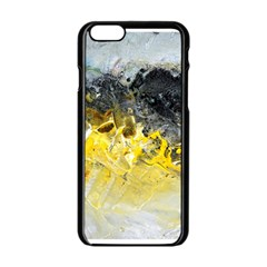 Bright Yellow Abstract Apple iPhone 6 Black Enamel Case