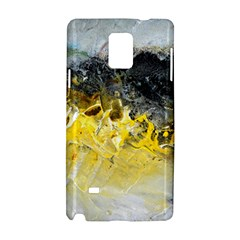 Bright Yellow Abstract Samsung Galaxy Note 4 Hardshell Case