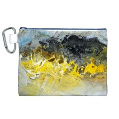 Bright Yellow Abstract Canvas Cosmetic Bag (XL)