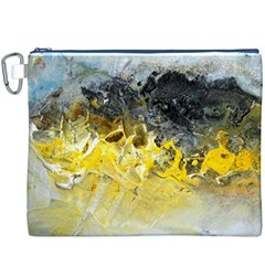 Bright Yellow Abstract Canvas Cosmetic Bag (XXXL)