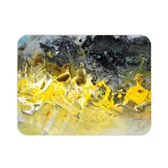 Bright Yellow Abstract Double Sided Flano Blanket (Mini)
