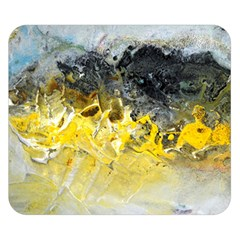 Bright Yellow Abstract Double Sided Flano Blanket (small)