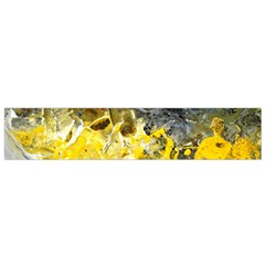 Bright Yellow Abstract Flano Scarf (Small)