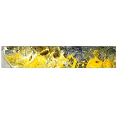 Bright Yellow Abstract Flano Scarf (Large)
