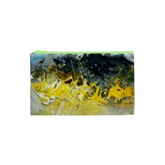 Bright Yellow Abstract Cosmetic Bag (XS)