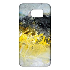 Bright Yellow Abstract Galaxy S6