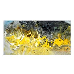 Bright Yellow Abstract Satin Shawl