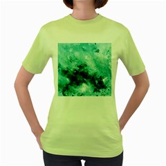 Turquoise Abstract Women s Green T Shirt
