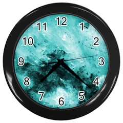 Turquoise Abstract Wall Clocks (black)
